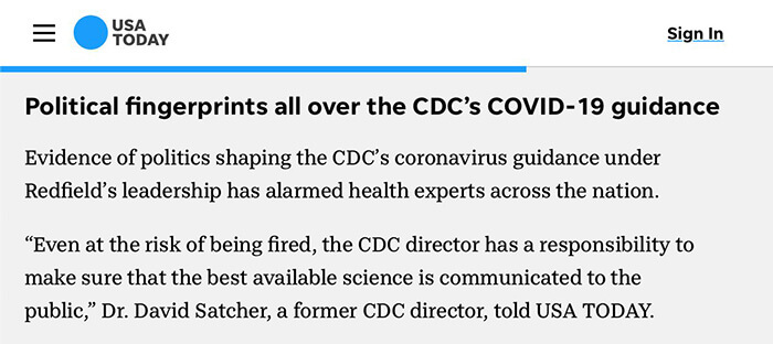 Political Influence on CDC